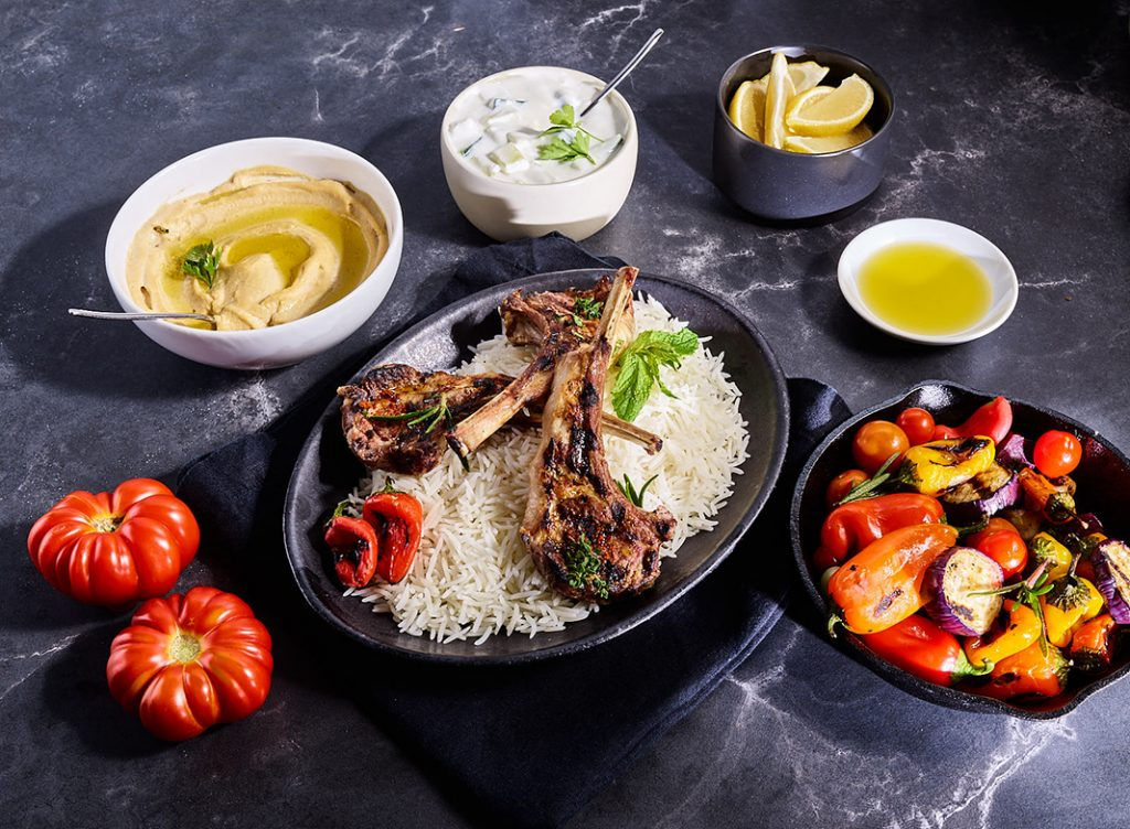 Middle Eastern Spiced Grilled Lamb Chops