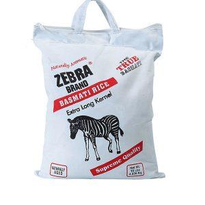 ZEBRA Basmati Rice Extra Long Grain (10 Lb)
