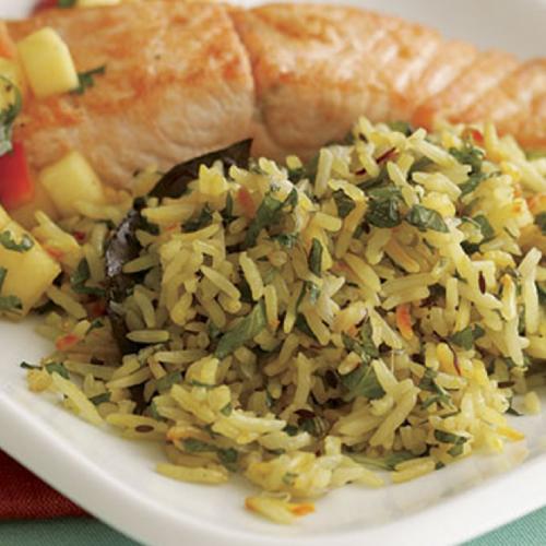 Zebra Rice with Fish